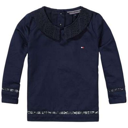 Tommy Hilfiger Girls Lace Mix Top