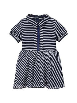 Girls Stripe Chiffon Dress