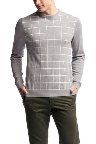 Tommy Hilfiger Windowpane Crew Neck Sweater