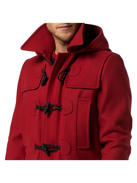 tommy hilfiger branch duffle coat red house of fraser. Black Bedroom Furniture Sets. Home Design Ideas