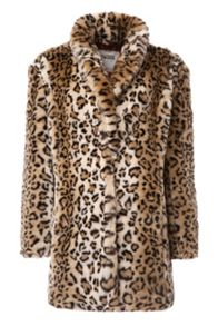 Tommy Hilfiger THDW Leopard Print Coat