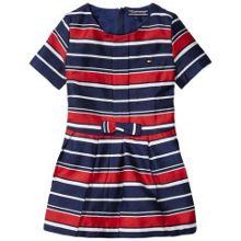 Tommy Hilfiger Striped Cotton Sateen Mini Dress