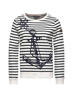Olympia Anchor Print Sweater