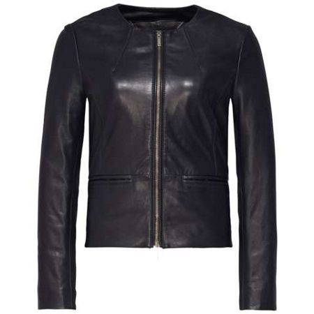 Tommy Hilfiger Gretel Peplum Leather Jacket