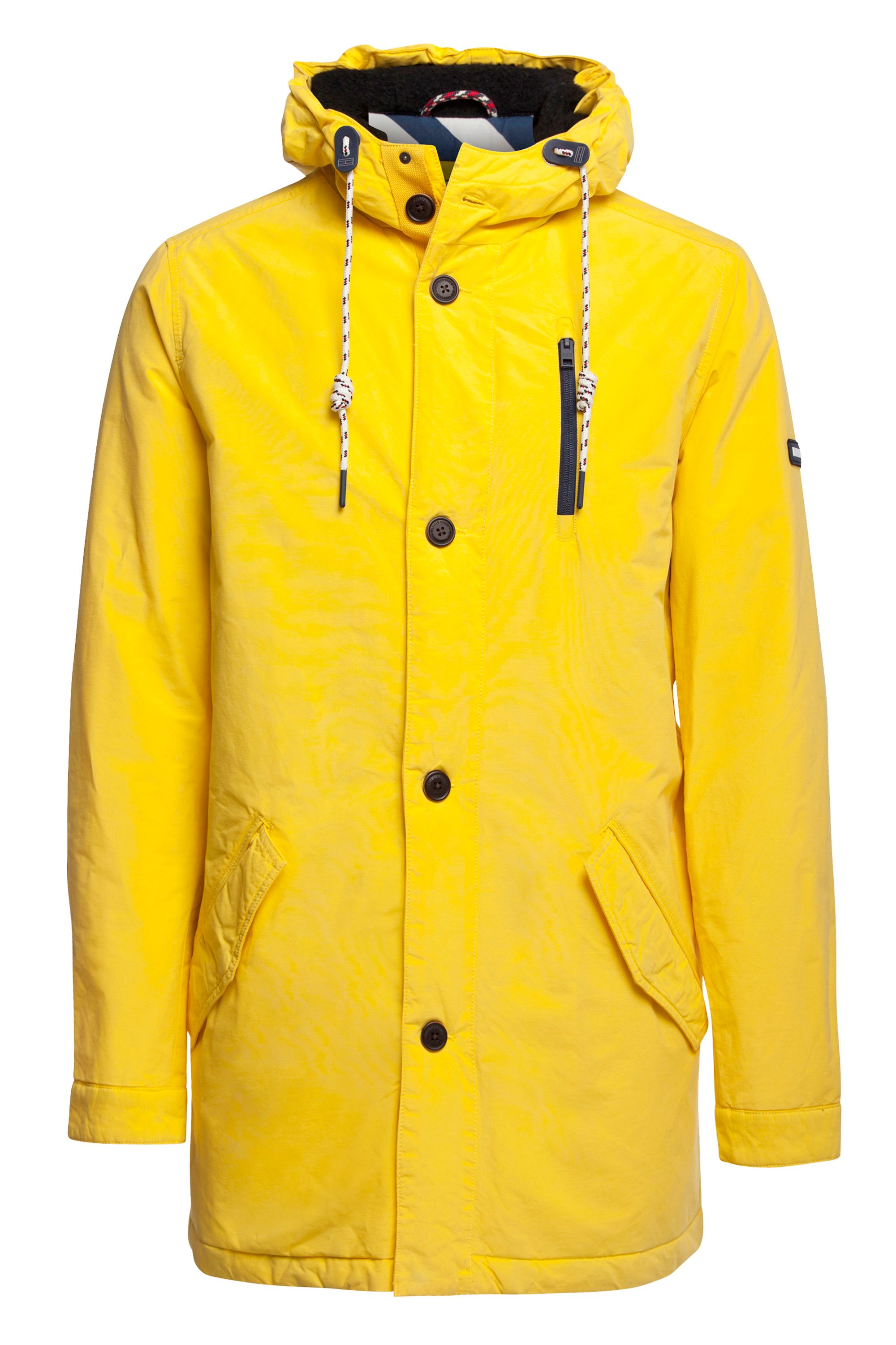 Mens Tommy Hilfiger Coated Parka Jacket Yellow