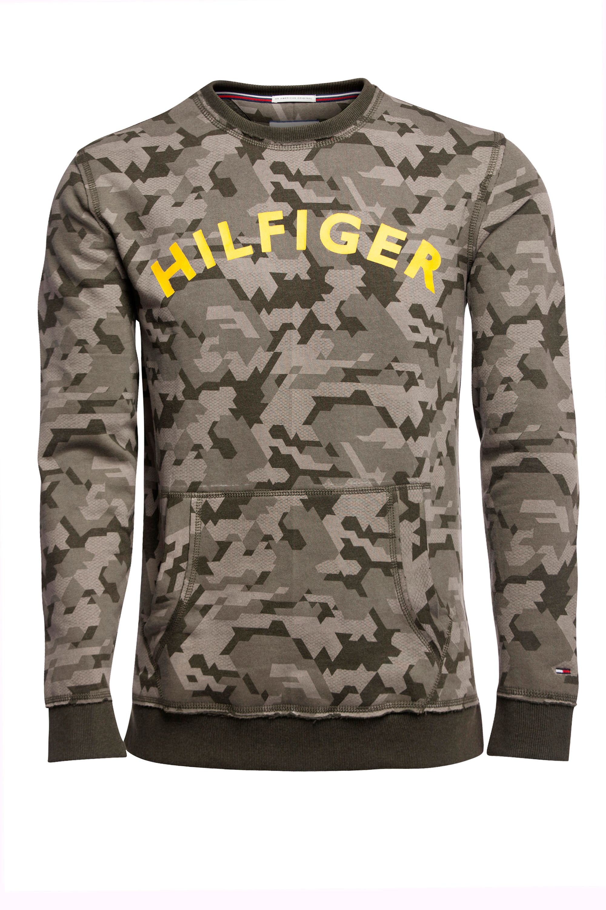 Men's Tommy Hilfiger Camo Sweatshirt, Military Green