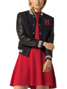 Tommy Hilfiger Brooklyn Varsity Leather Jacket