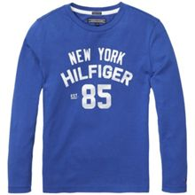 Tommy Hilfiger Boys Ame Logo Long Sleeve Tee