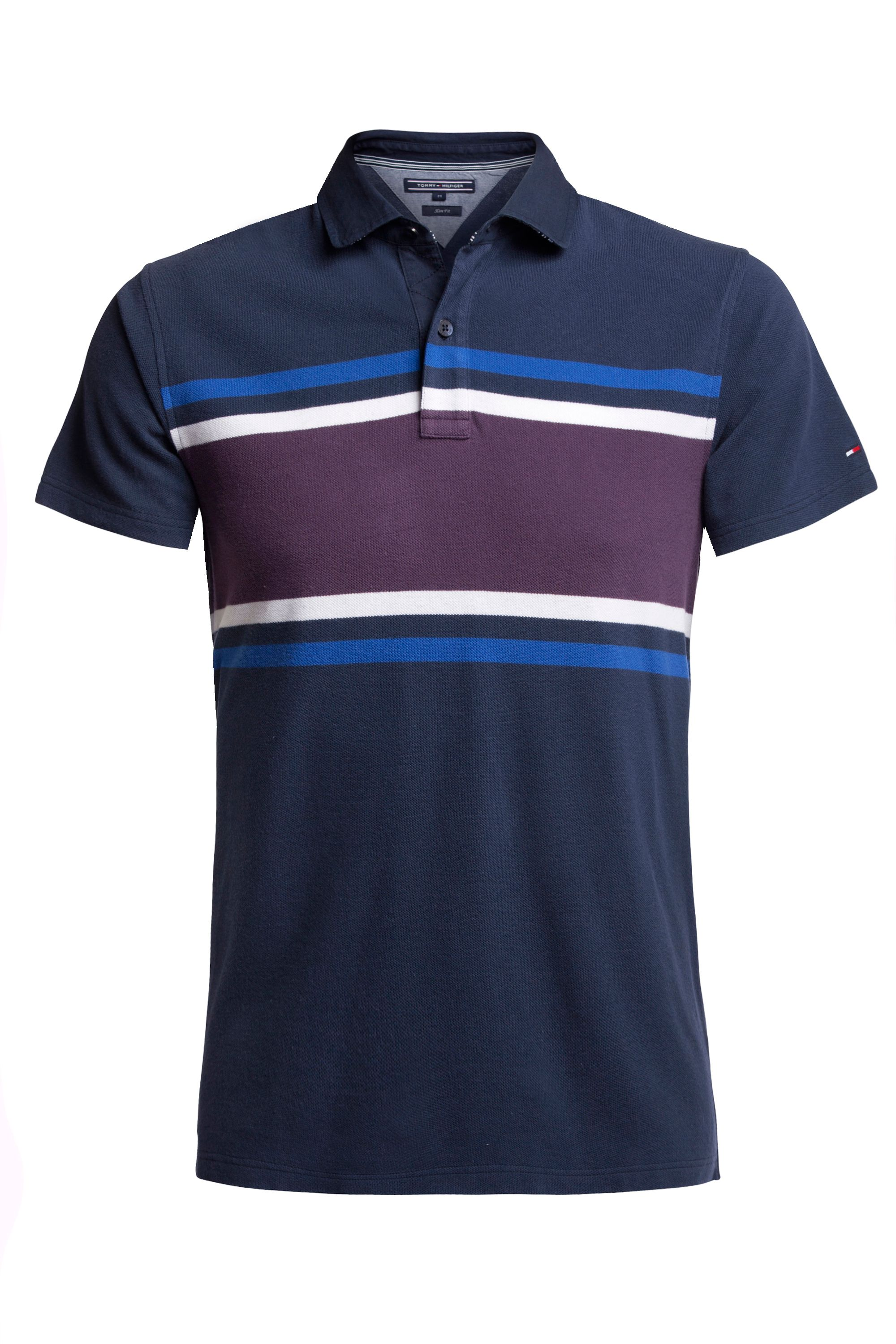 Men's Tommy Hilfiger Berend Eng Stripe Polo Top, Blue