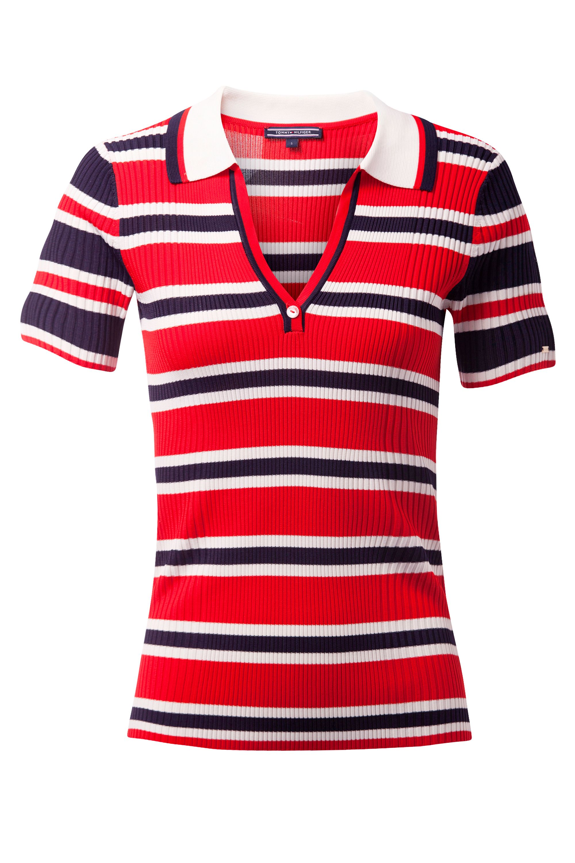 Tommy Hilfiger Erin Stripe Polo, Red