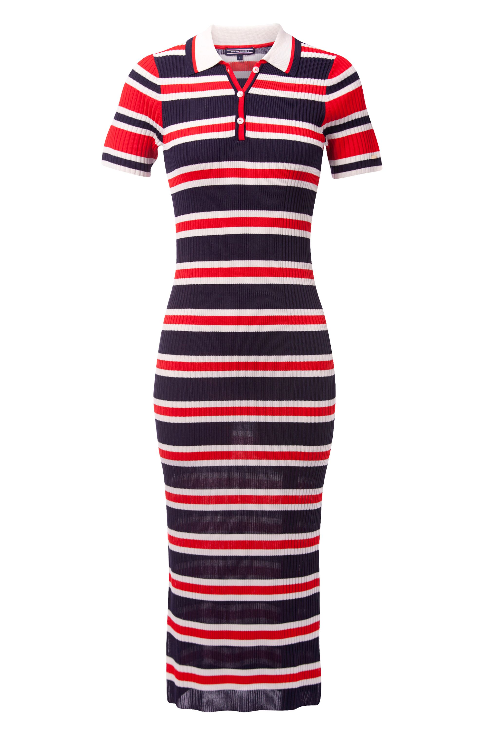 Tommy Hilfiger Erin Stripe Polo Dress, Blue
