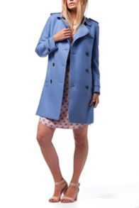 Tommy Hilfiger Beth Boiled Wool Trench Coat