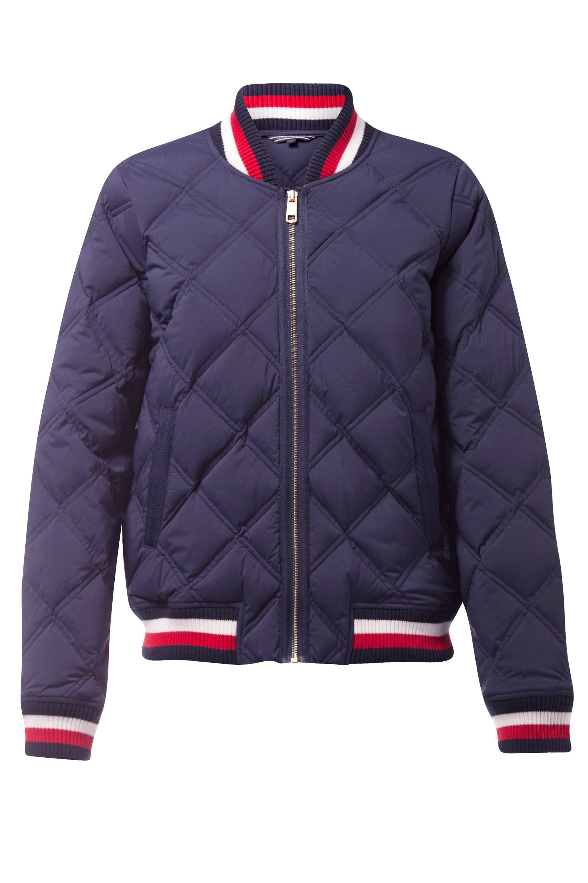 Tommy Hilfiger Blake Stretch Down Bomber Jacket, Blue