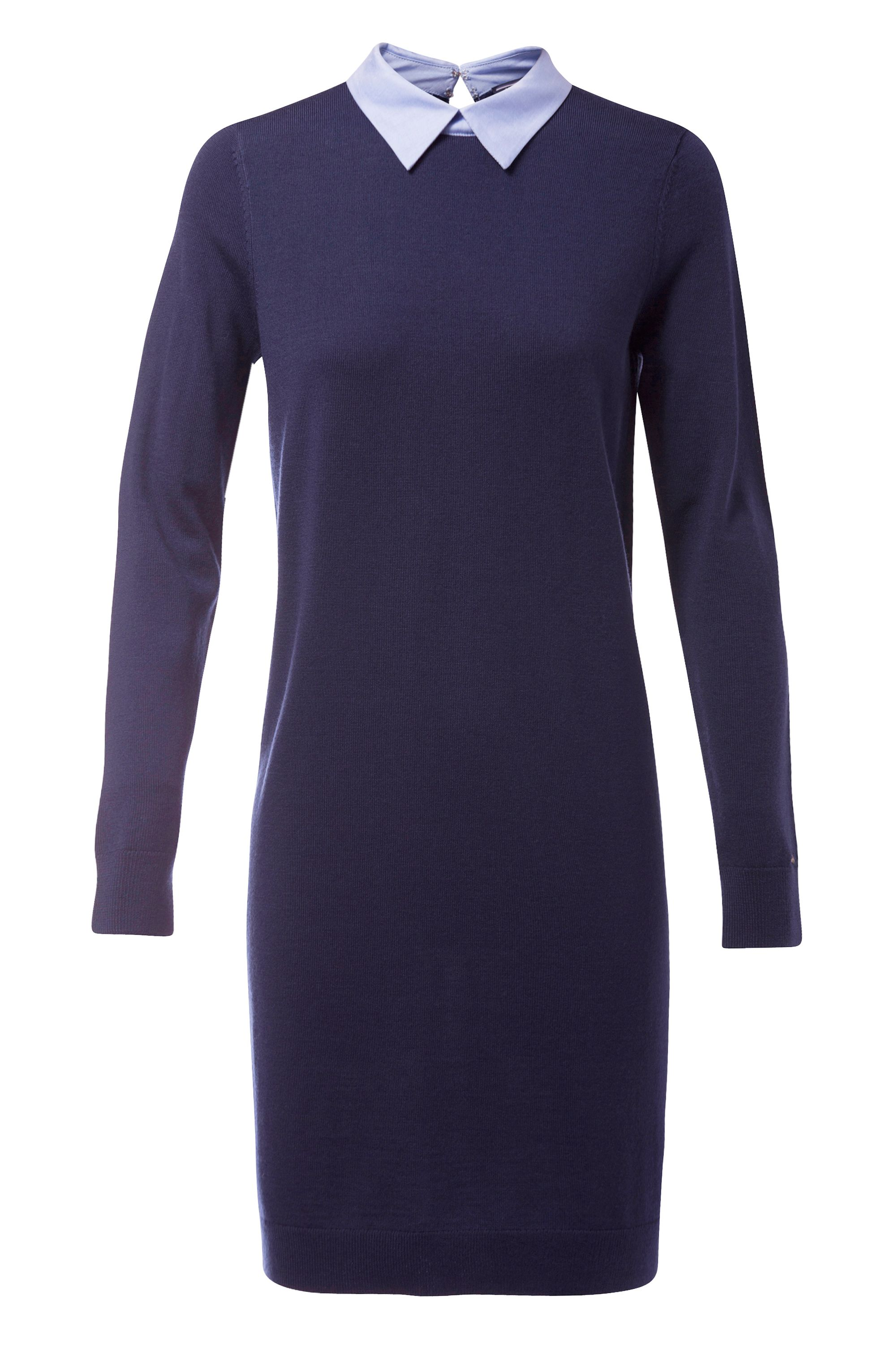 Tommy Hilfiger Elga Oxford Detail Dress, Blue