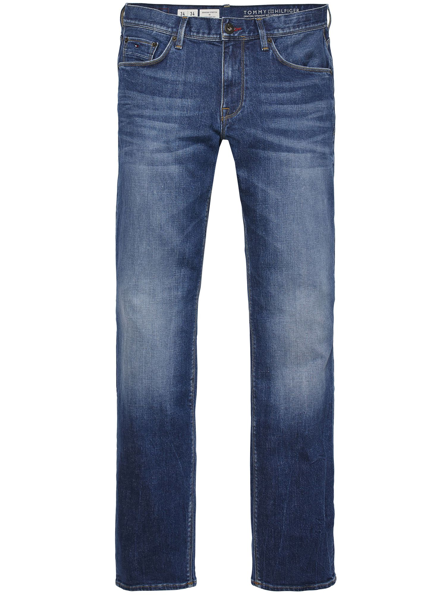 Mens Denton Mid Stone Straight Fit Jeans, Mid Blue