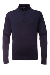 Tommy Hilfiger Compact button mock sweater