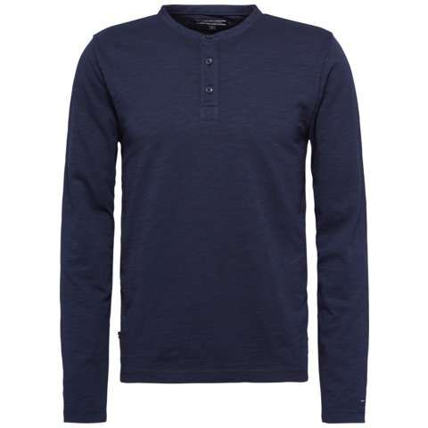 Men's Tommy Hilfiger Garment dyed henley top, Midnight