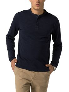 Tommy Hilfiger Garment dyed henley top