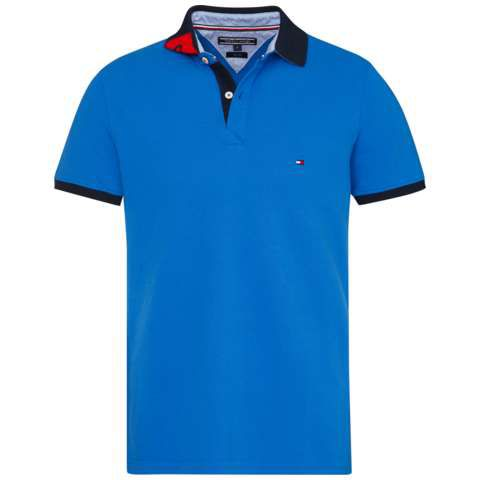 Men's Tommy Hilfiger Tommy jacquard polo top, Blue