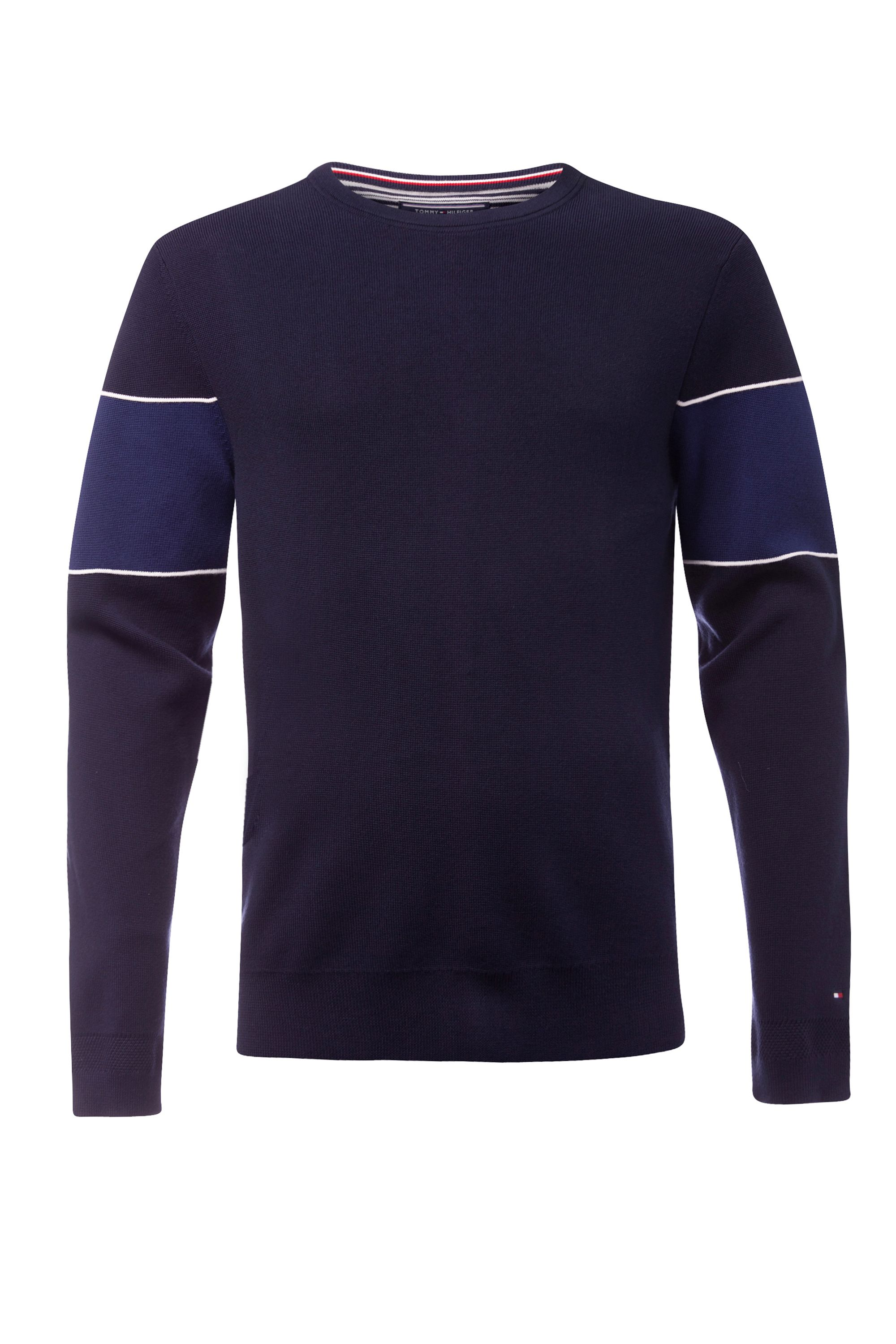 Men's Tommy Hilfiger Striped sleeve sweater, Midnight