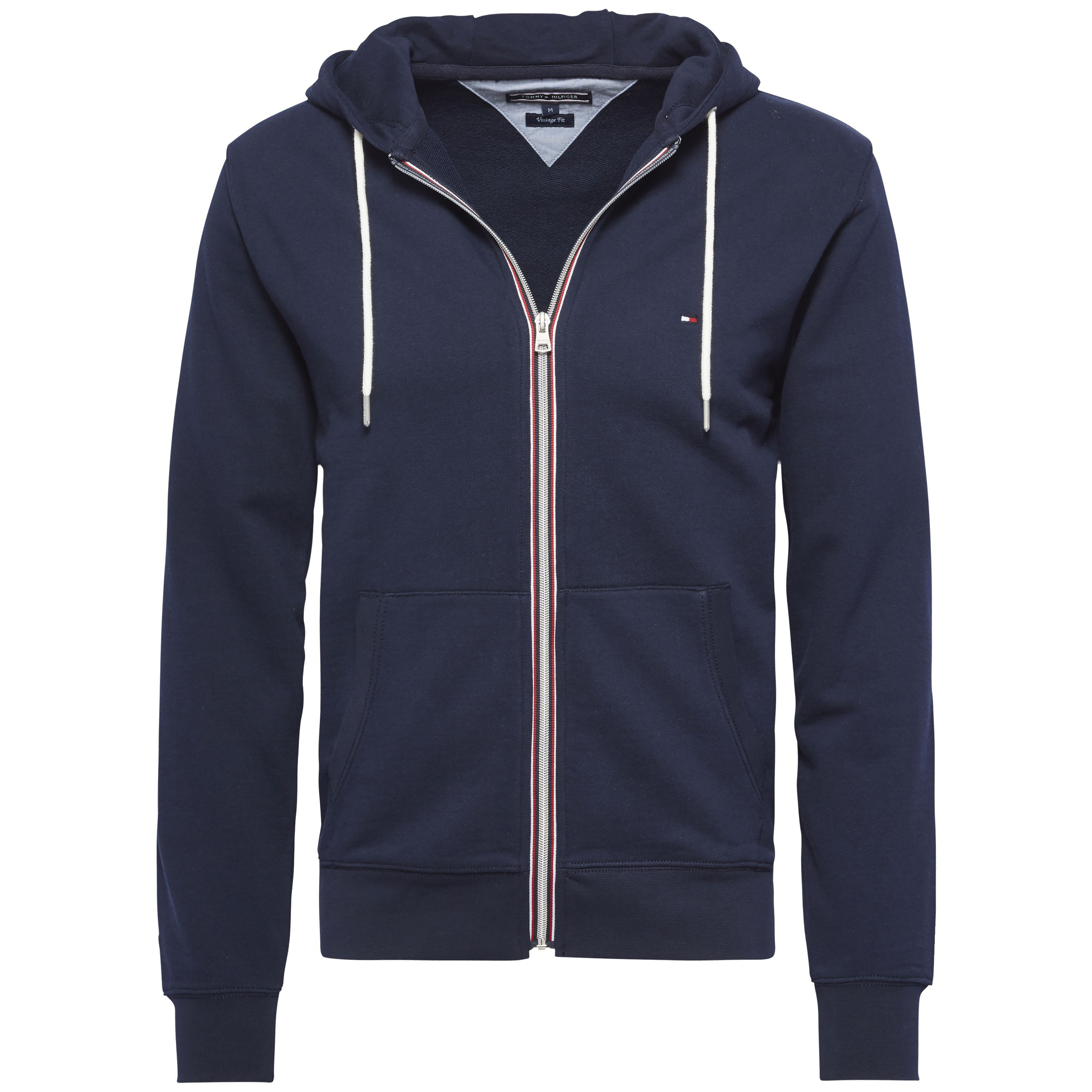 Men's Tommy Hilfiger Basic zip through hoody, Midnight