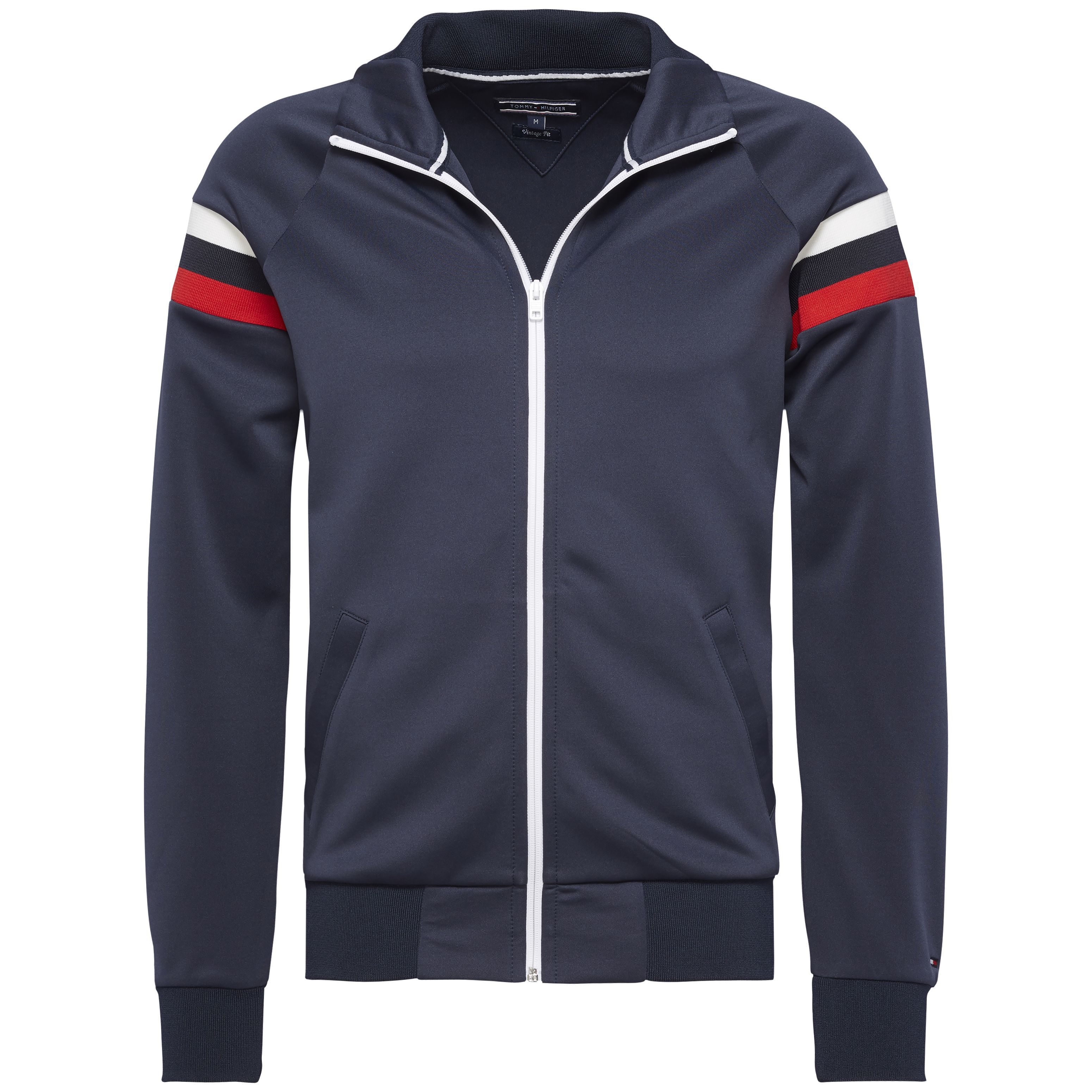 Men's Tommy Hilfiger Mick zip through track top, Midnight