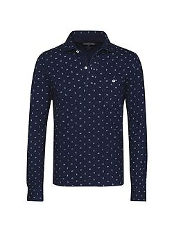 Benton print polo top
