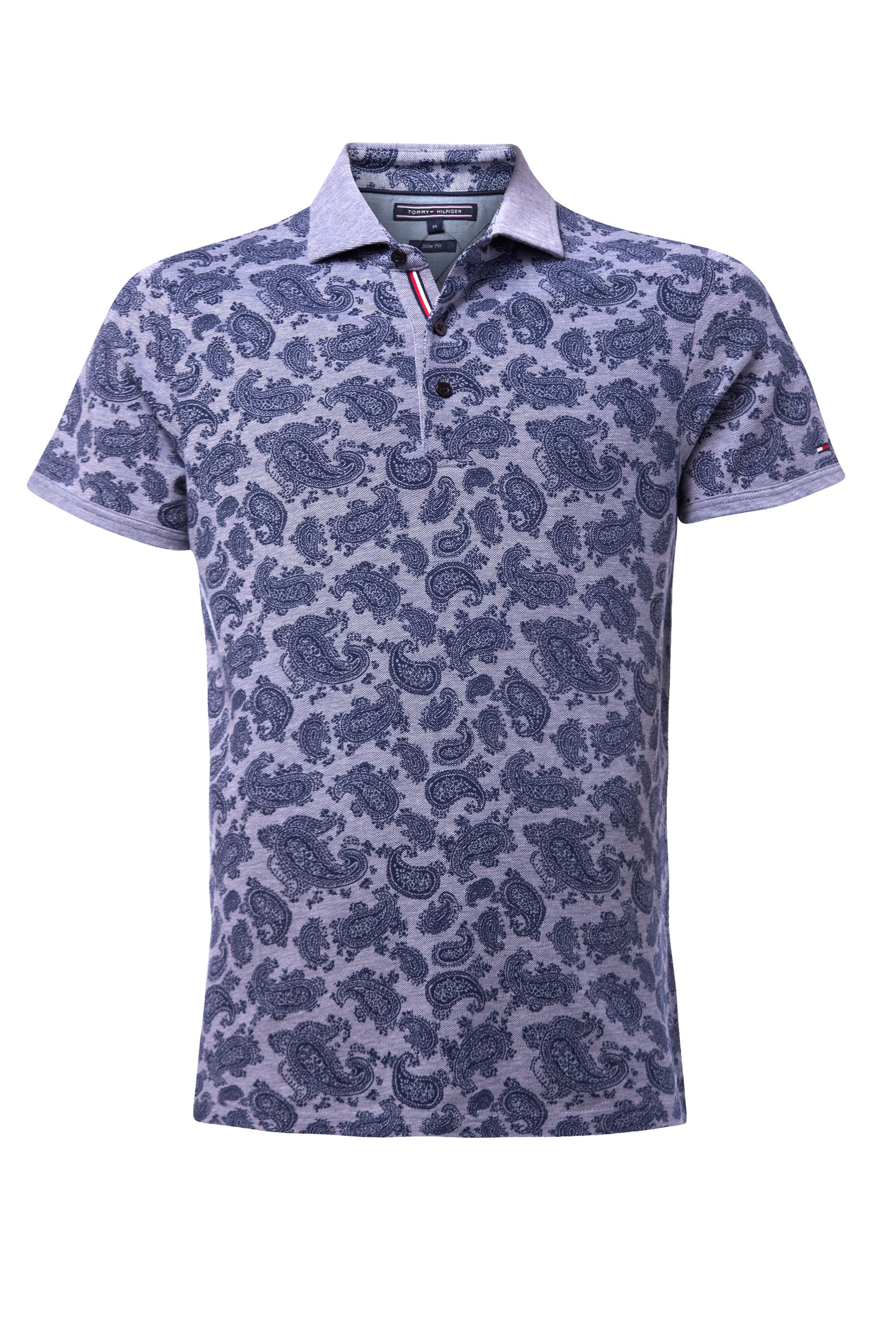 Men's Tommy Hilfiger Bay print polo top, Blue