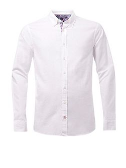 Floral detailed oxford shirt