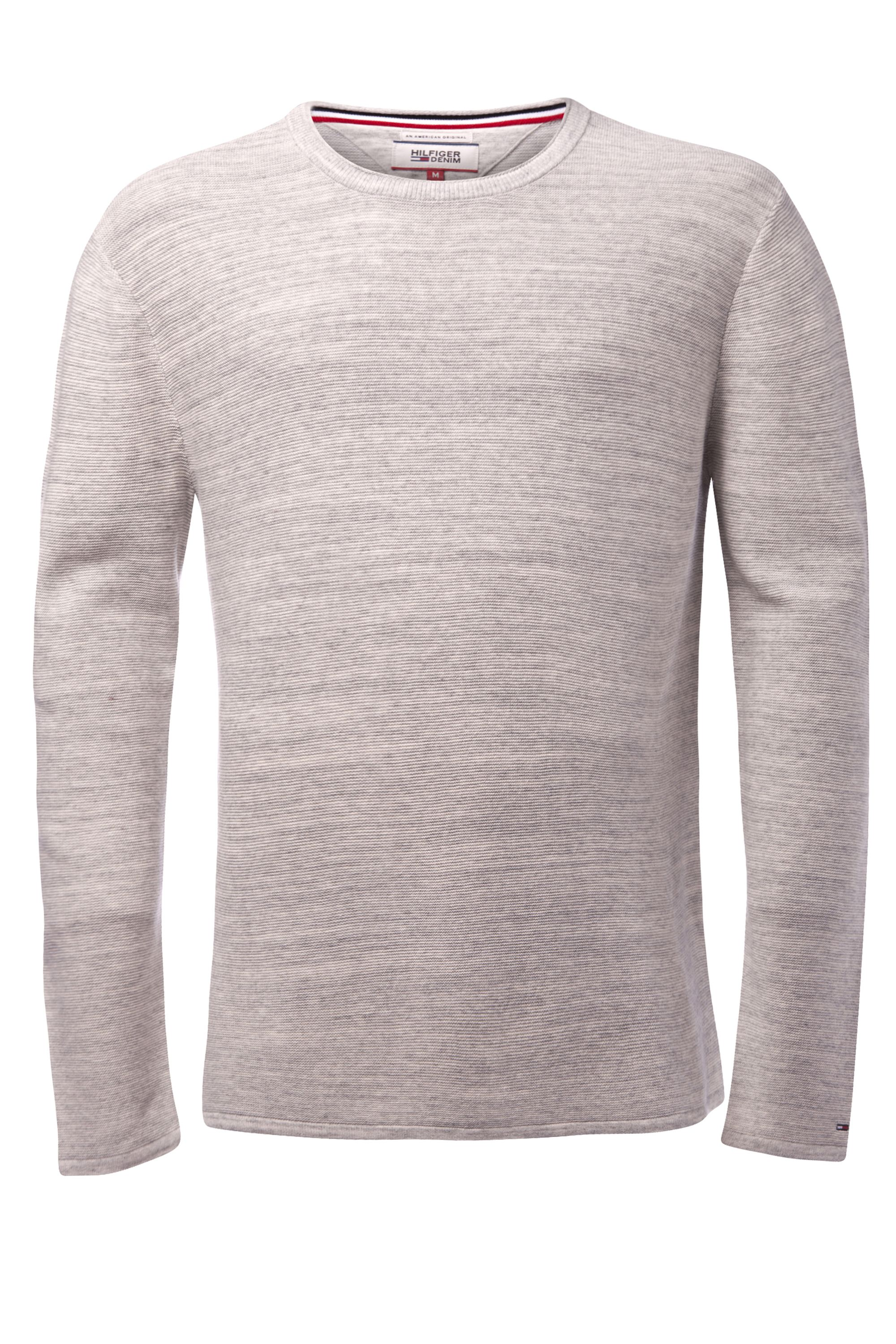 Men's Tommy Hilfiger space dye sweater, Light Grey