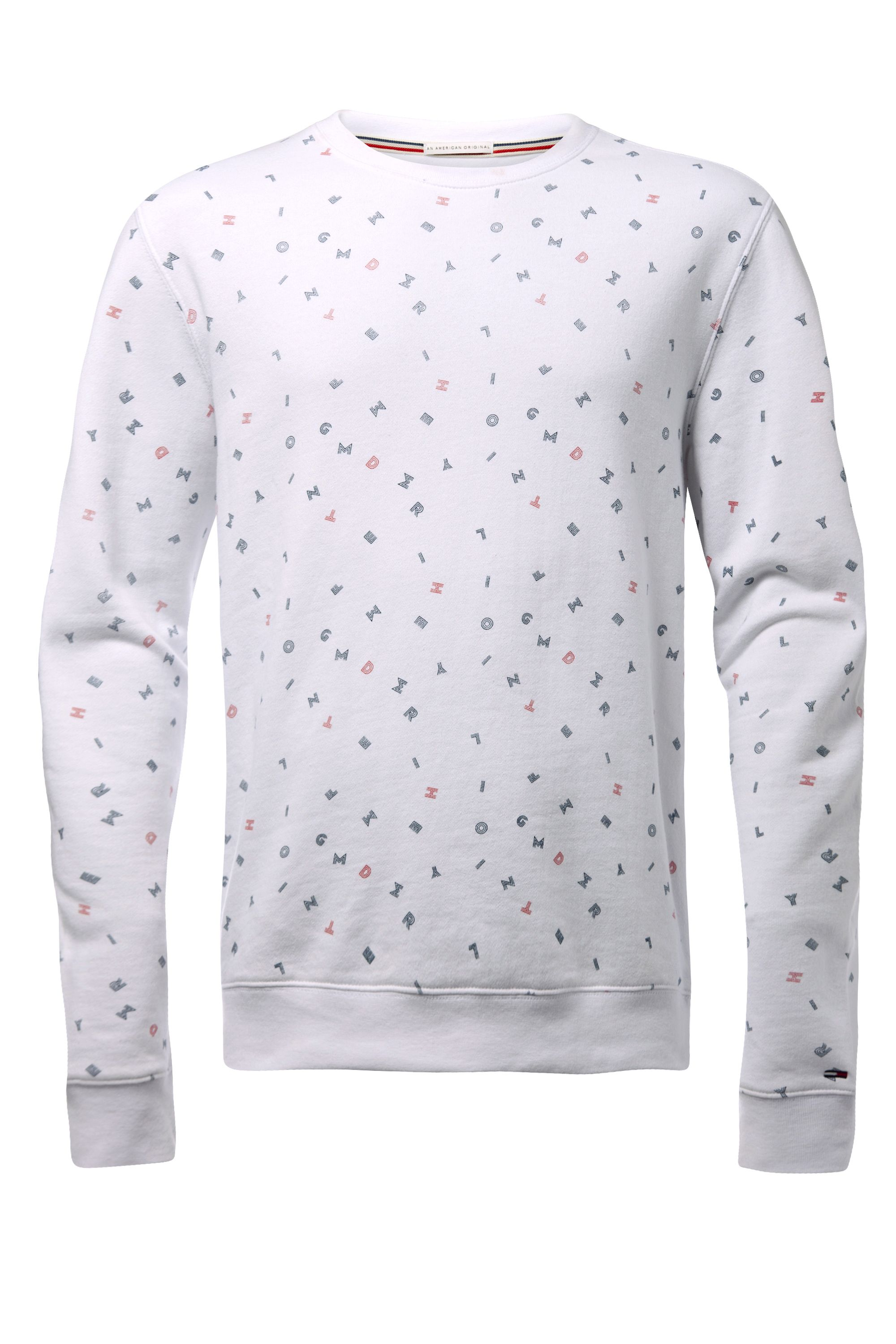 Men's Tommy Hilfiger letter print sweater, White