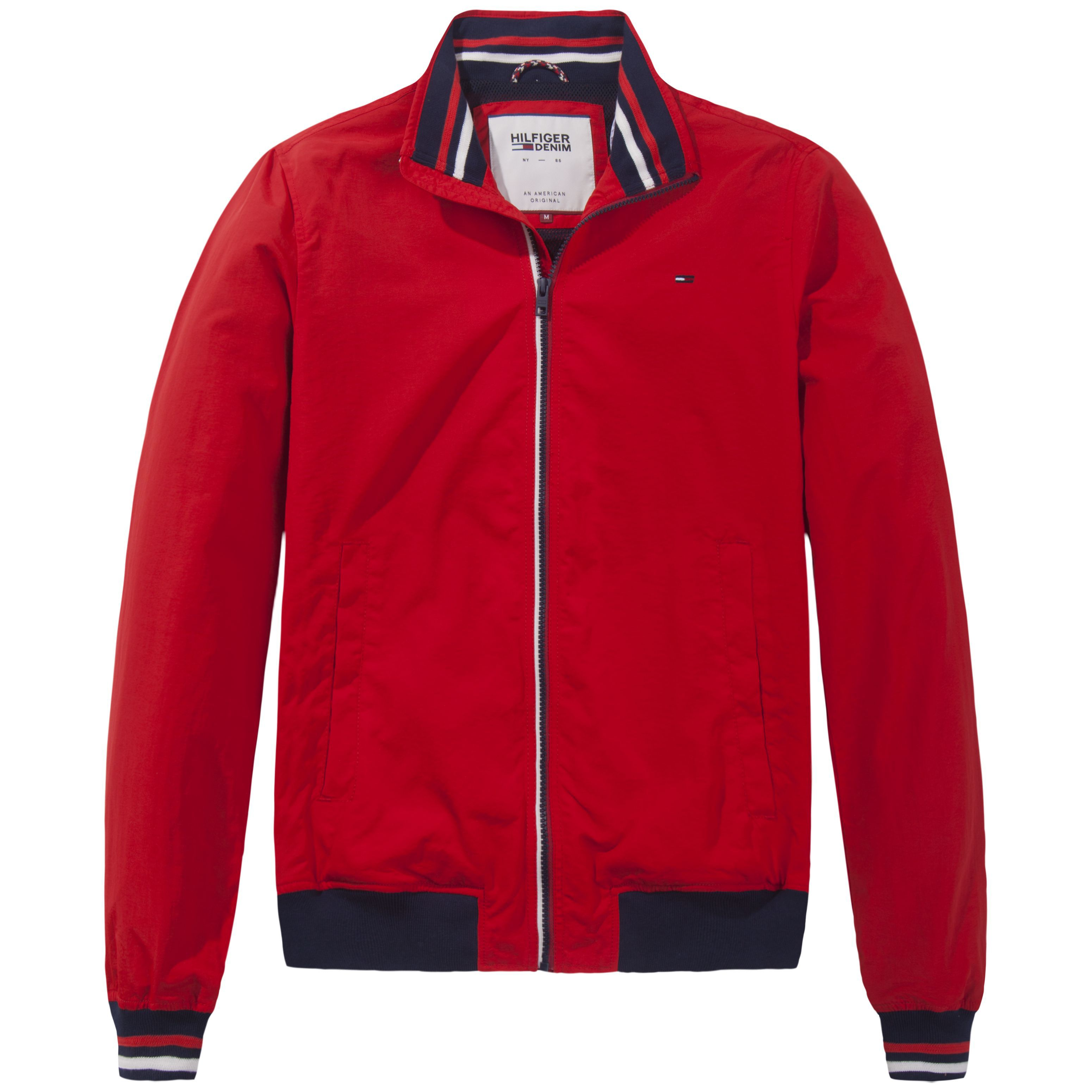 Mens Tommy Hilfiger Basic Casual 22 Bomber Jacket Red