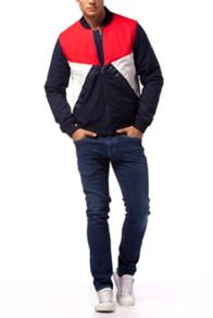 Tommy Hilfiger color block bomber jacket