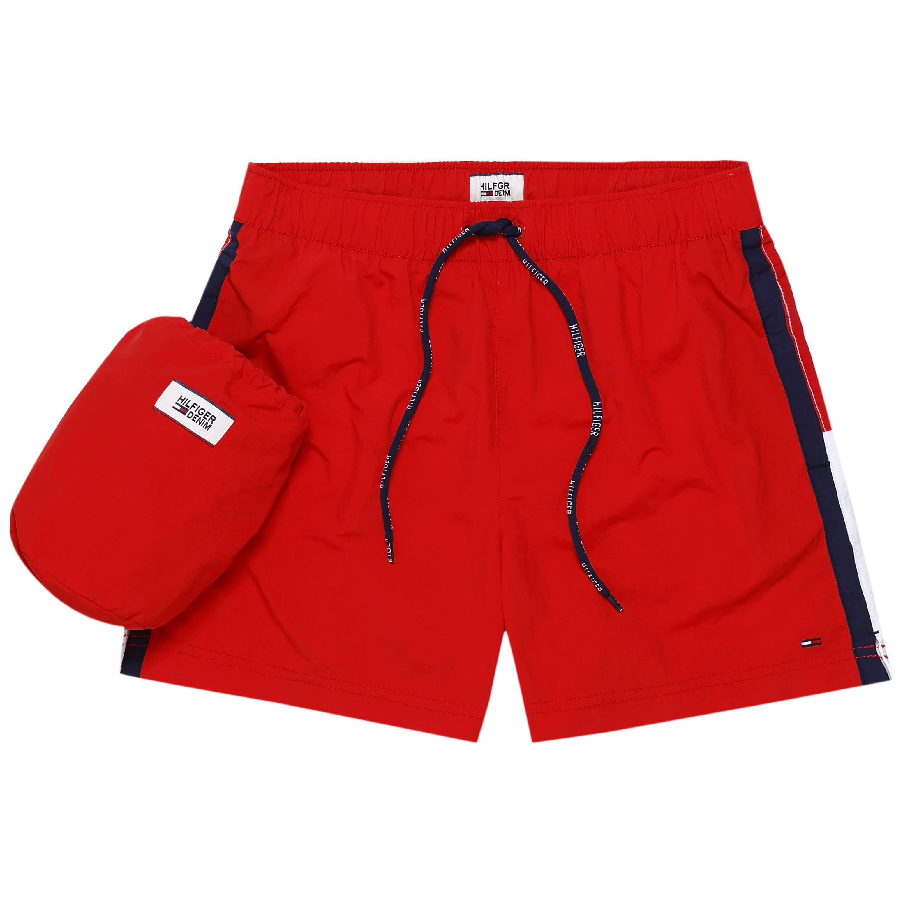 Men's Tommy Hilfiger basic flag swim shorts, Red