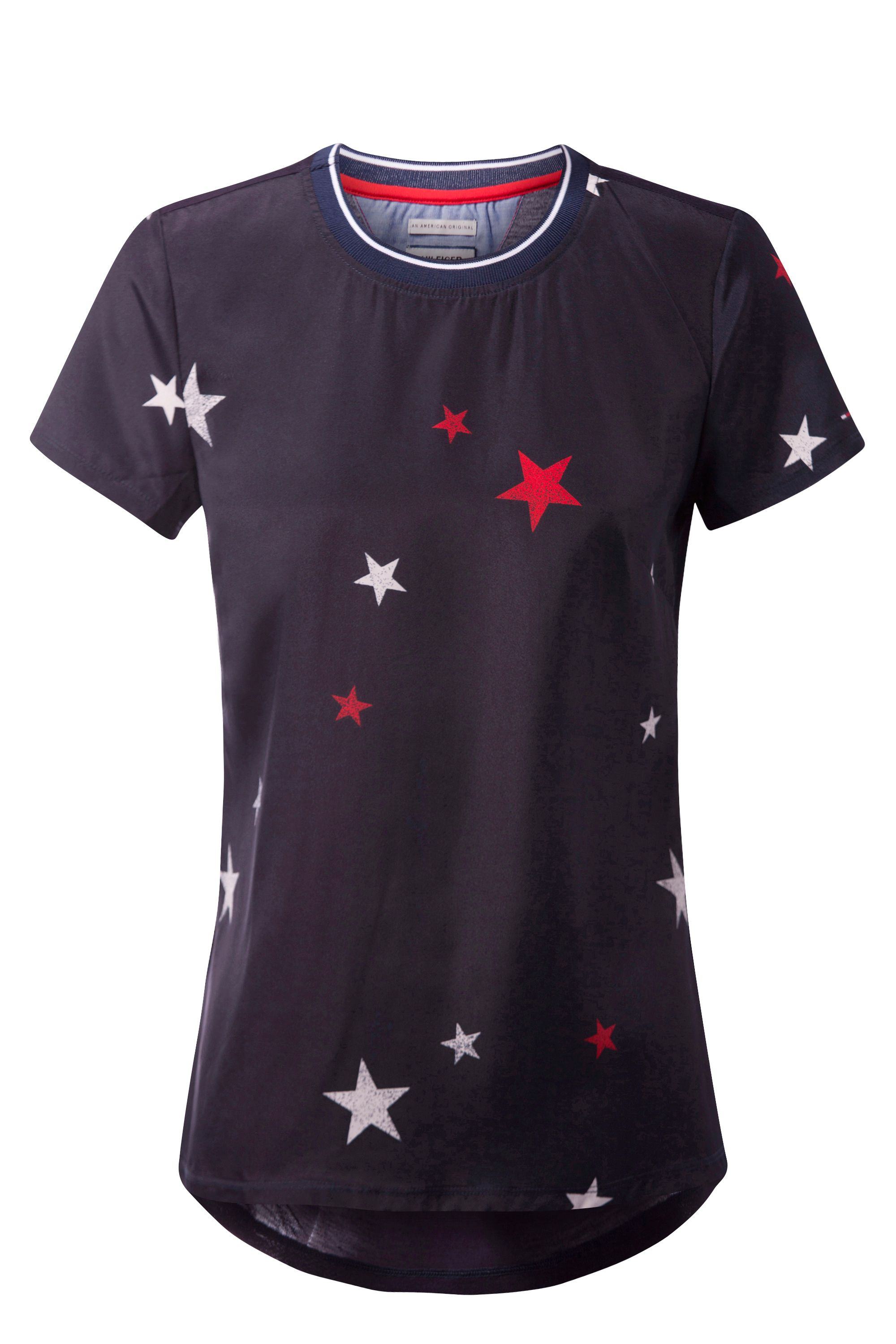 Tommy Hilfiger Print Star Top, Blue