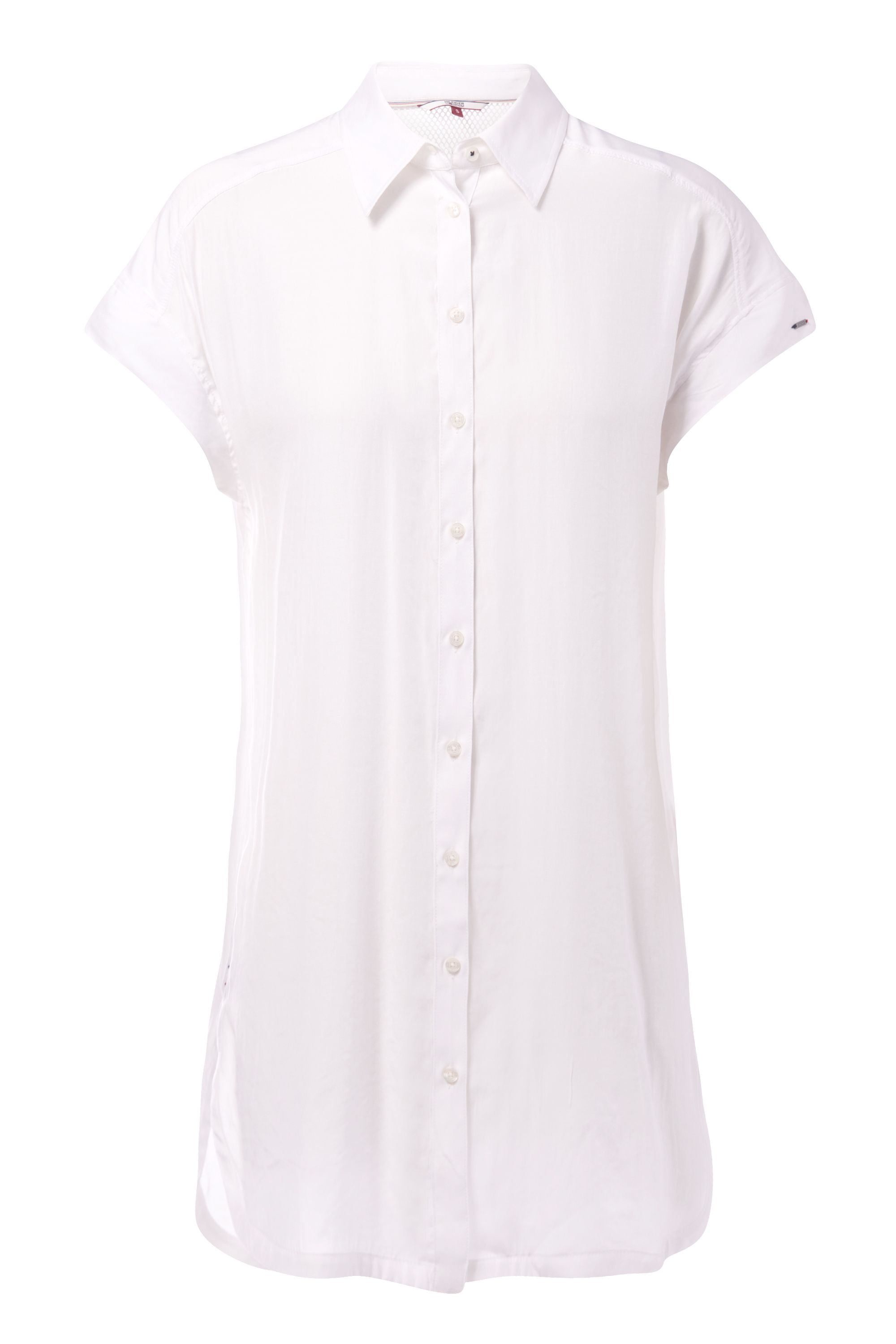 Tommy Hilfiger Mesh Long Shirt, White