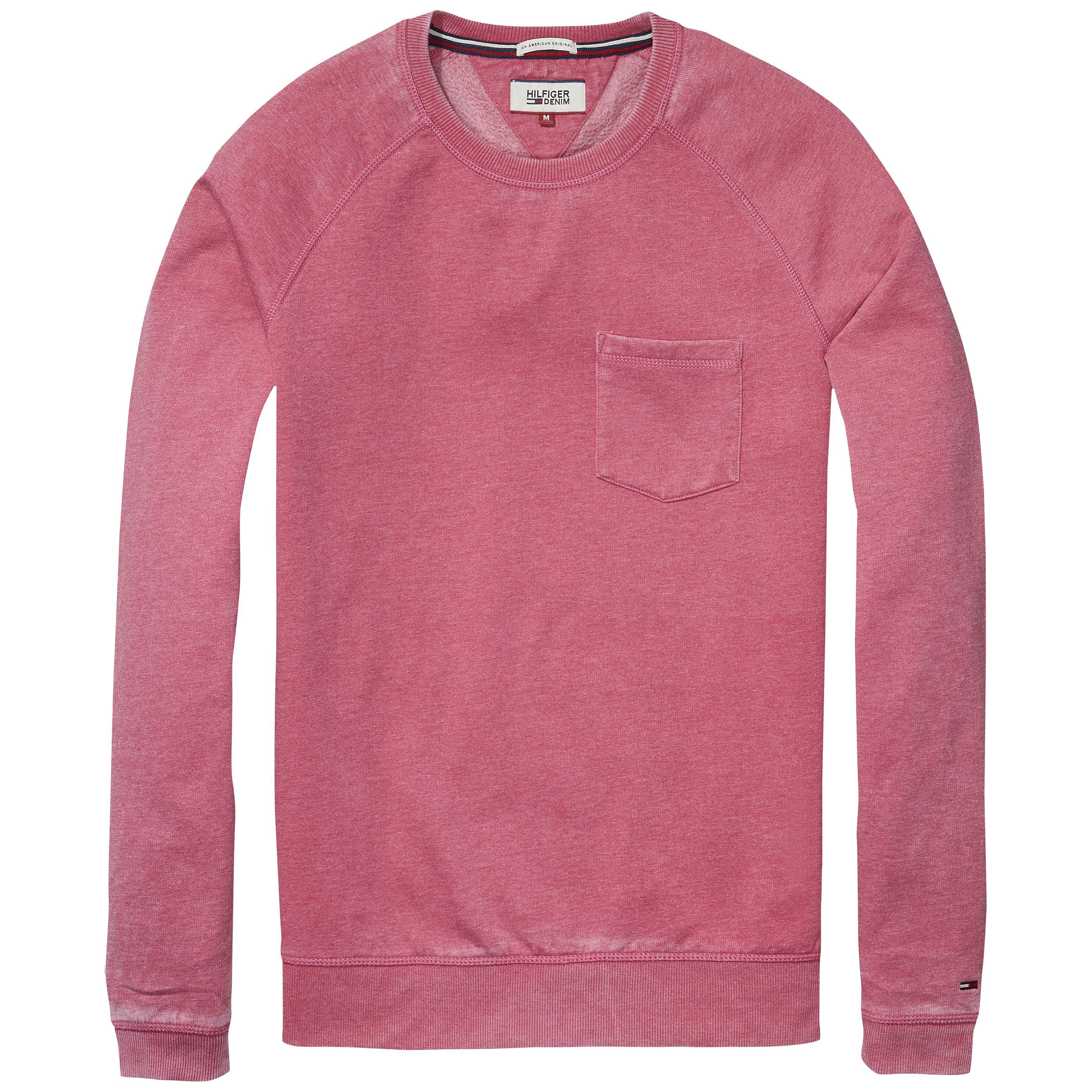 Men's Tommy Hilfiger burnout sweatshirt, Pink