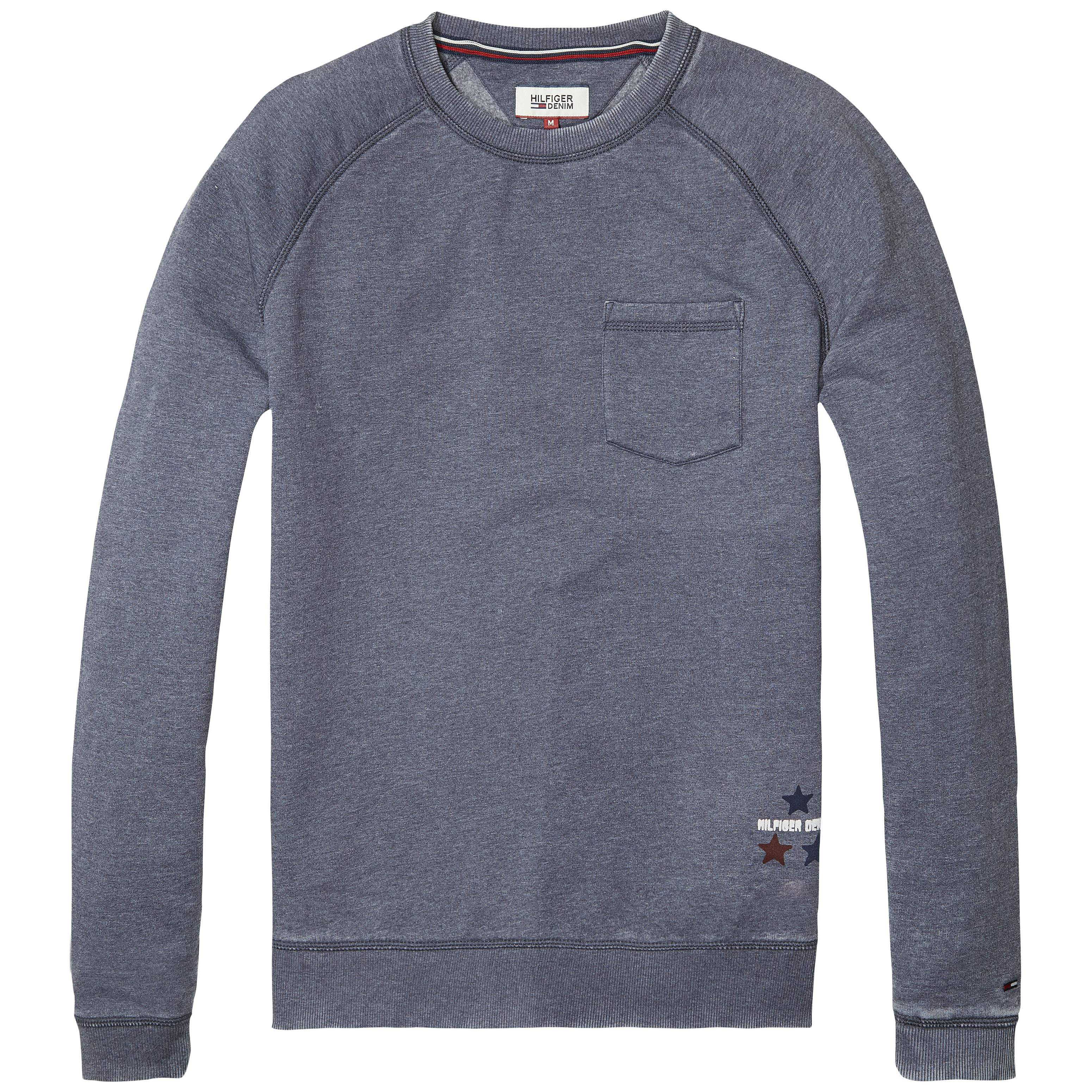 Men's Tommy Hilfiger burnout sweatshirt, Faded Blue