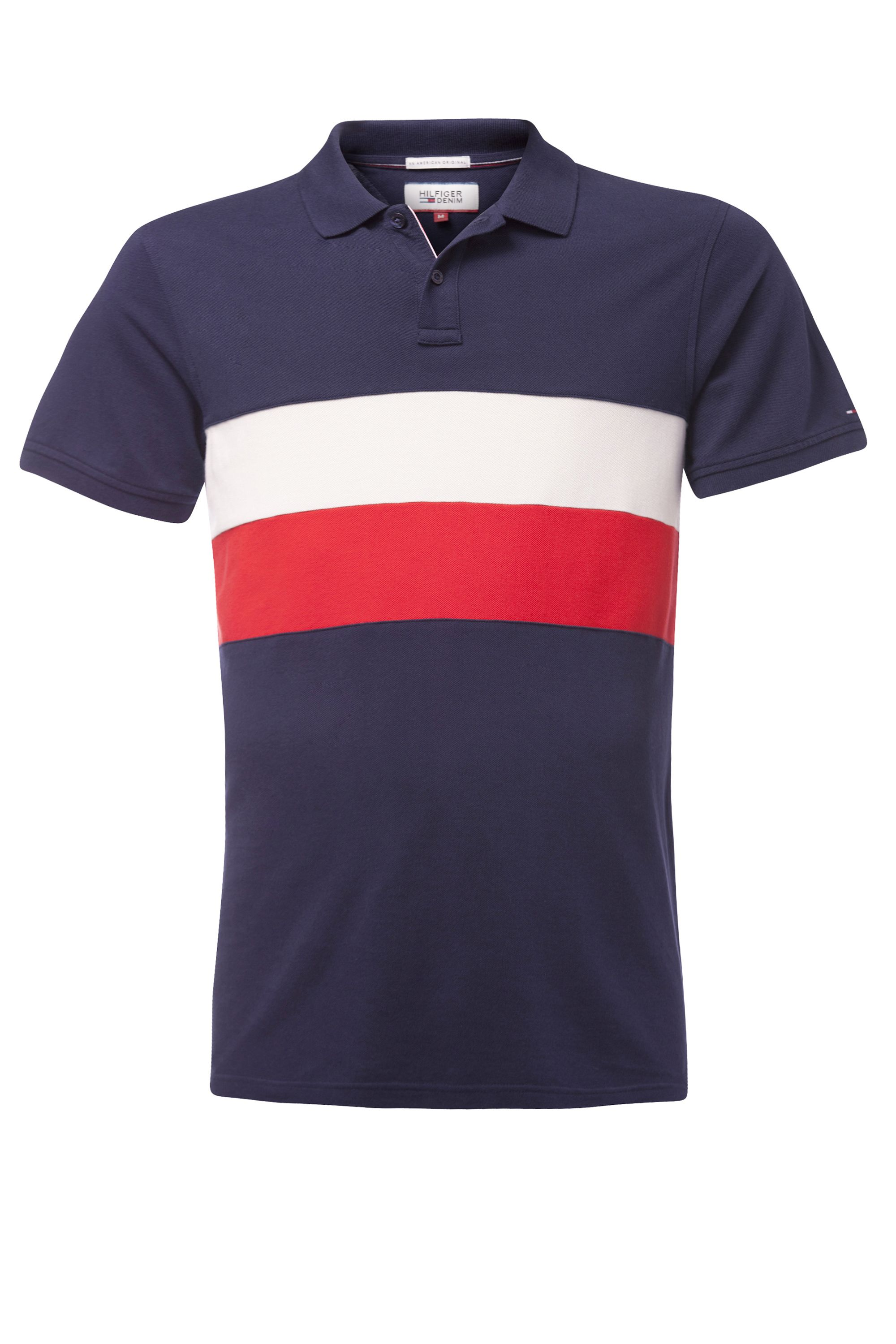 Men's Tommy Hilfiger track polo top, Blue