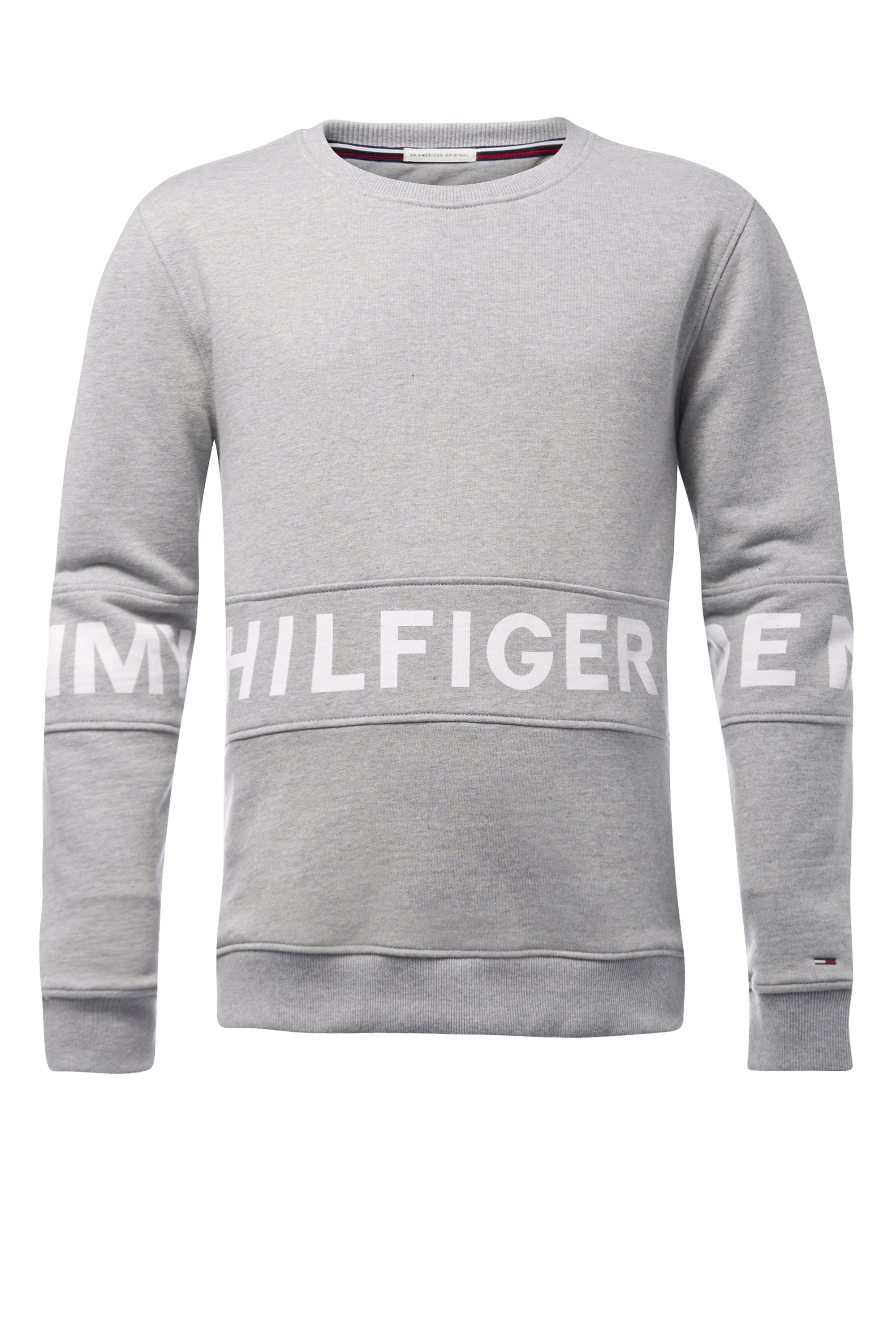 Men's Tommy Hilfiger basic logo sweatshirt, Light Grey