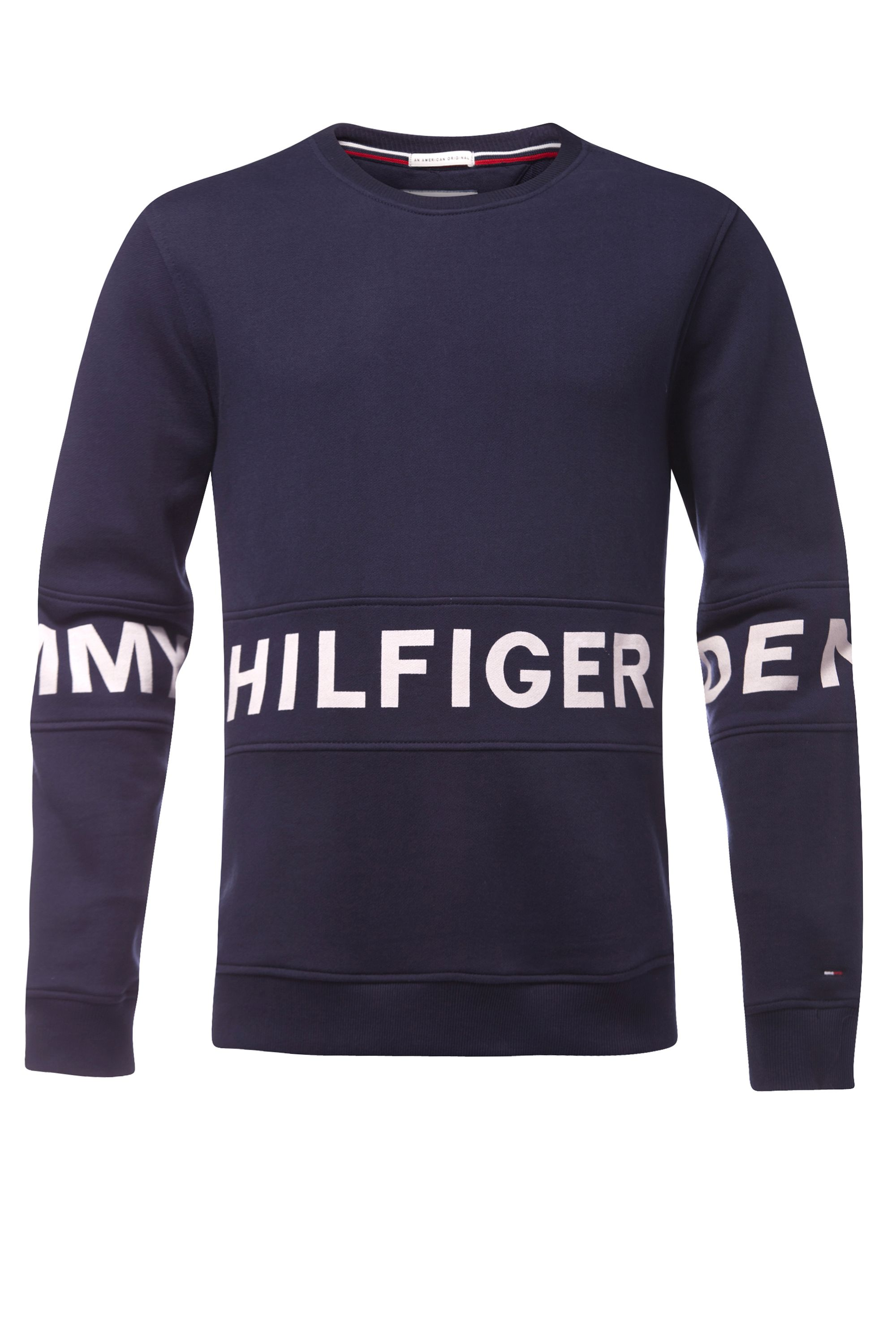 Men's Tommy Hilfiger basic logo sweatshirt, Blue
