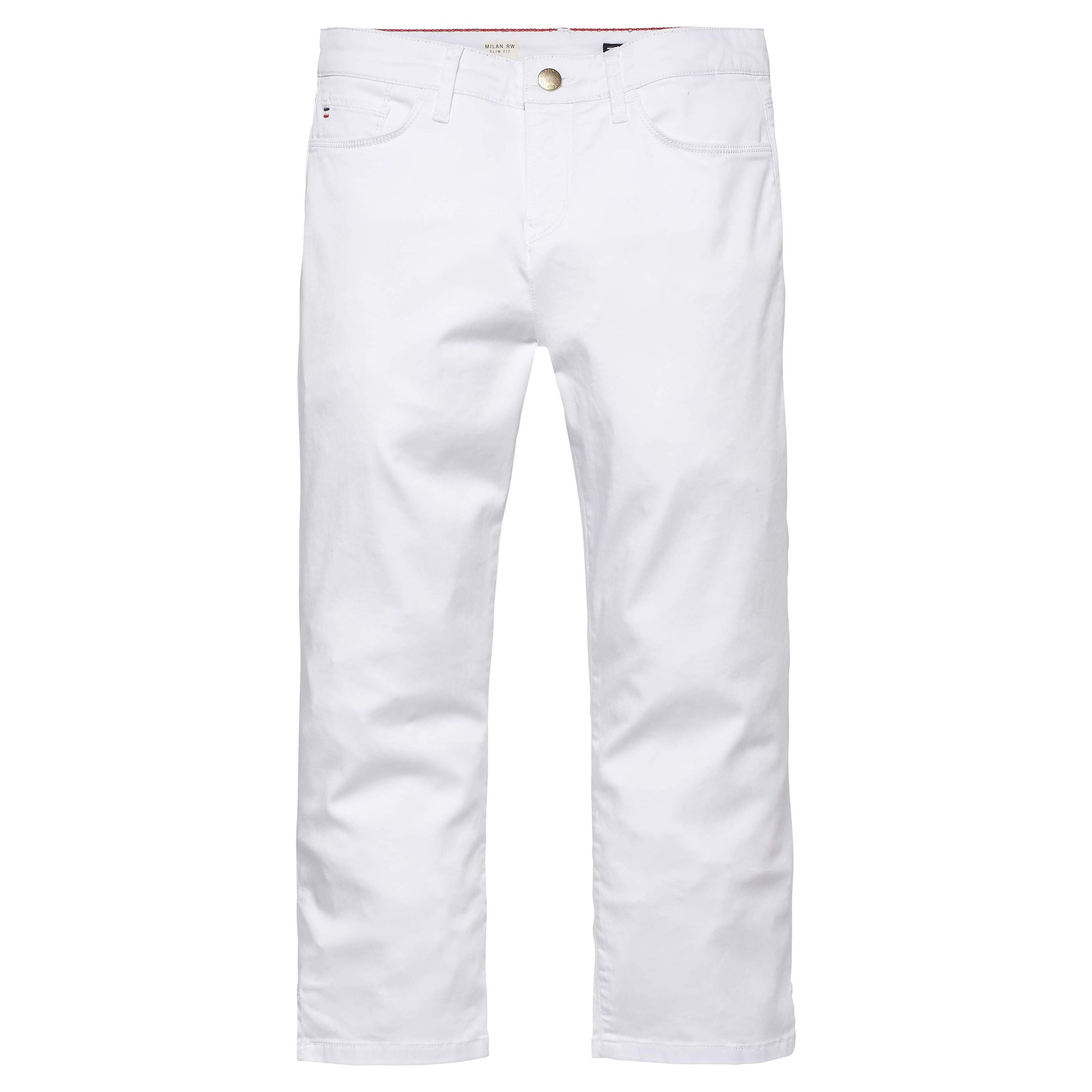 Tommy Hilfiger Silvana Milan Cropped Pants, White