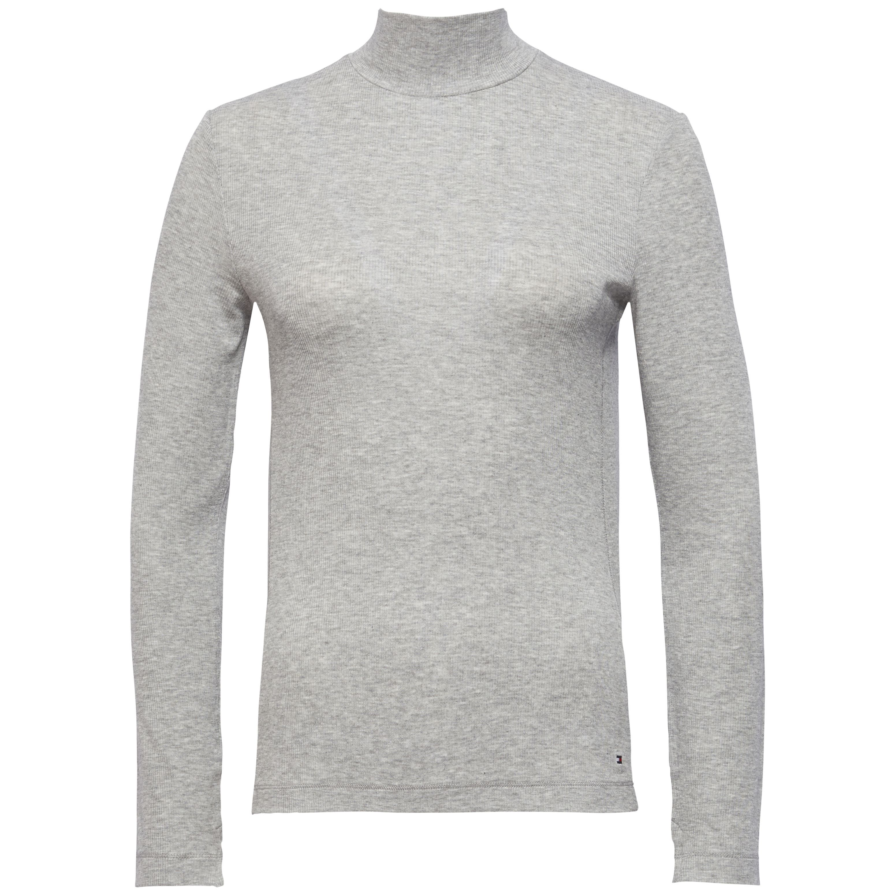 Tommy Hilfiger Remy Turtle-Neck Long Sleeve Top, Grey