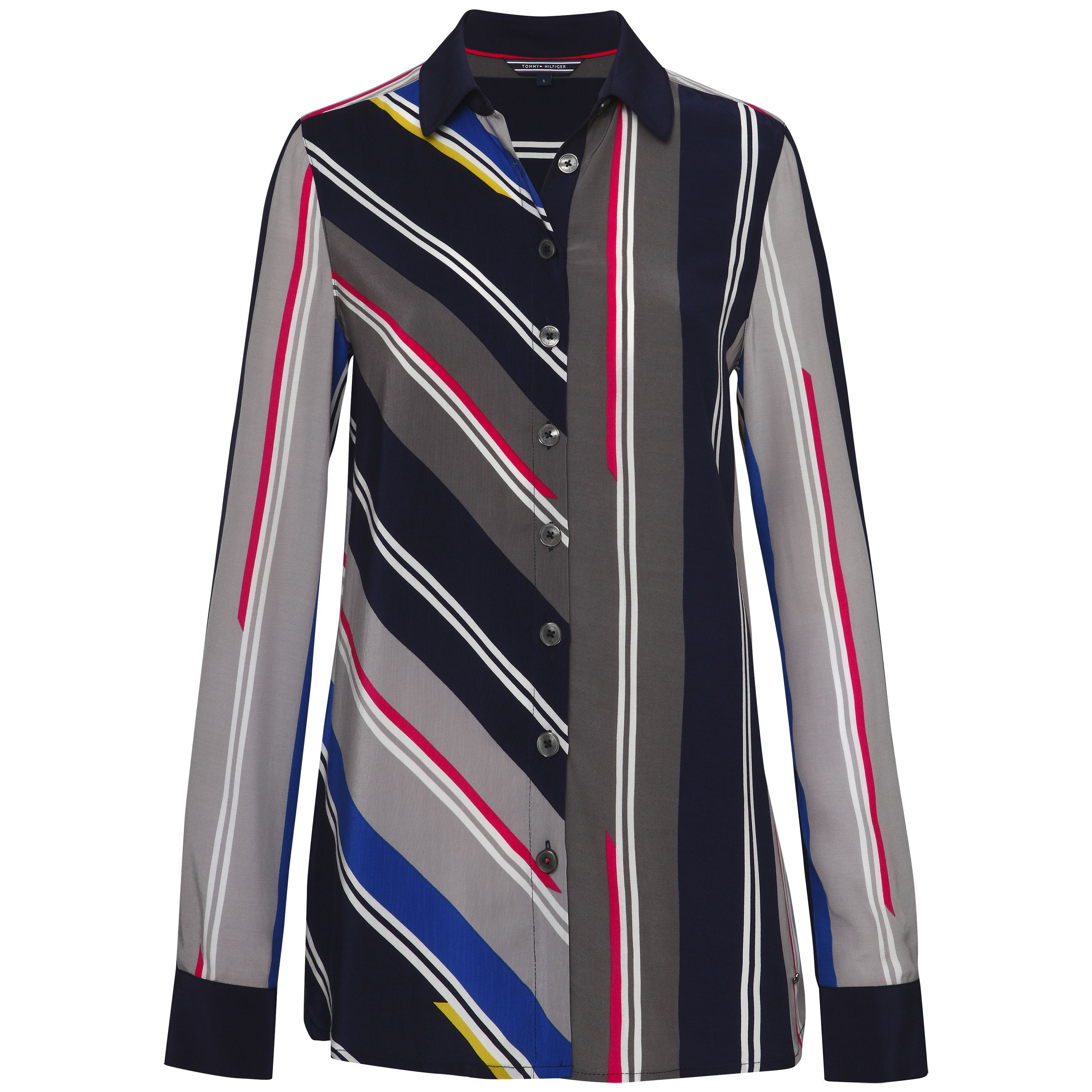 Tommy Hilfiger Nalome Viscose Long Sleeve Blouse, Multi-Coloured