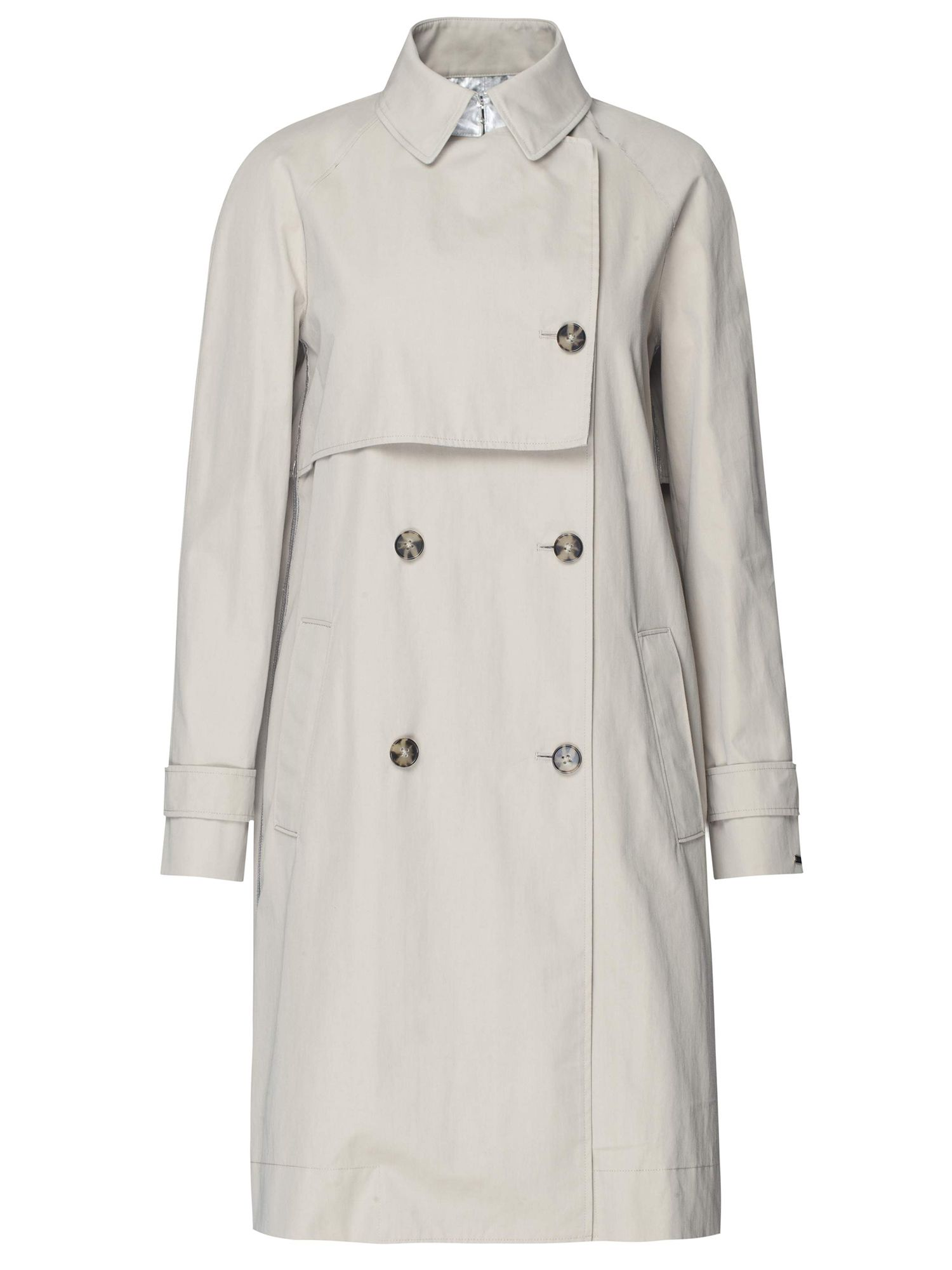 Tommy Hilfiger Carol Metallic Trench Coat, Grey
