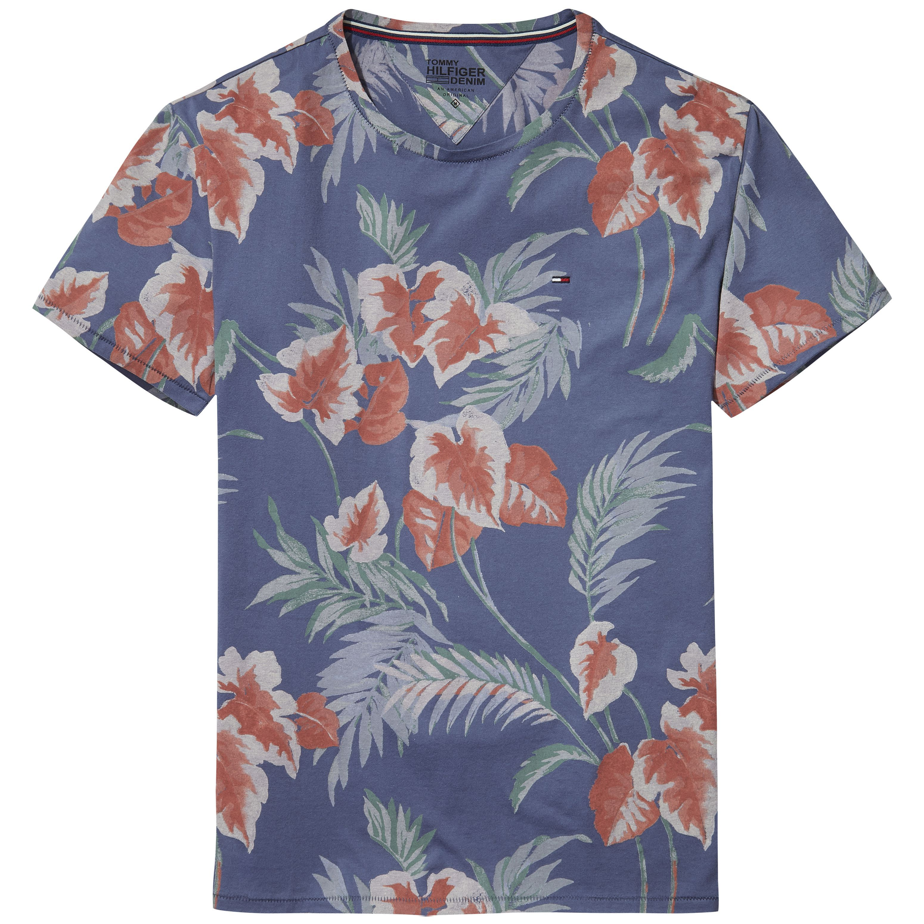 Men's Tommy Hilfiger Hilfiger Denim Floral Print T-Shirt, Blue