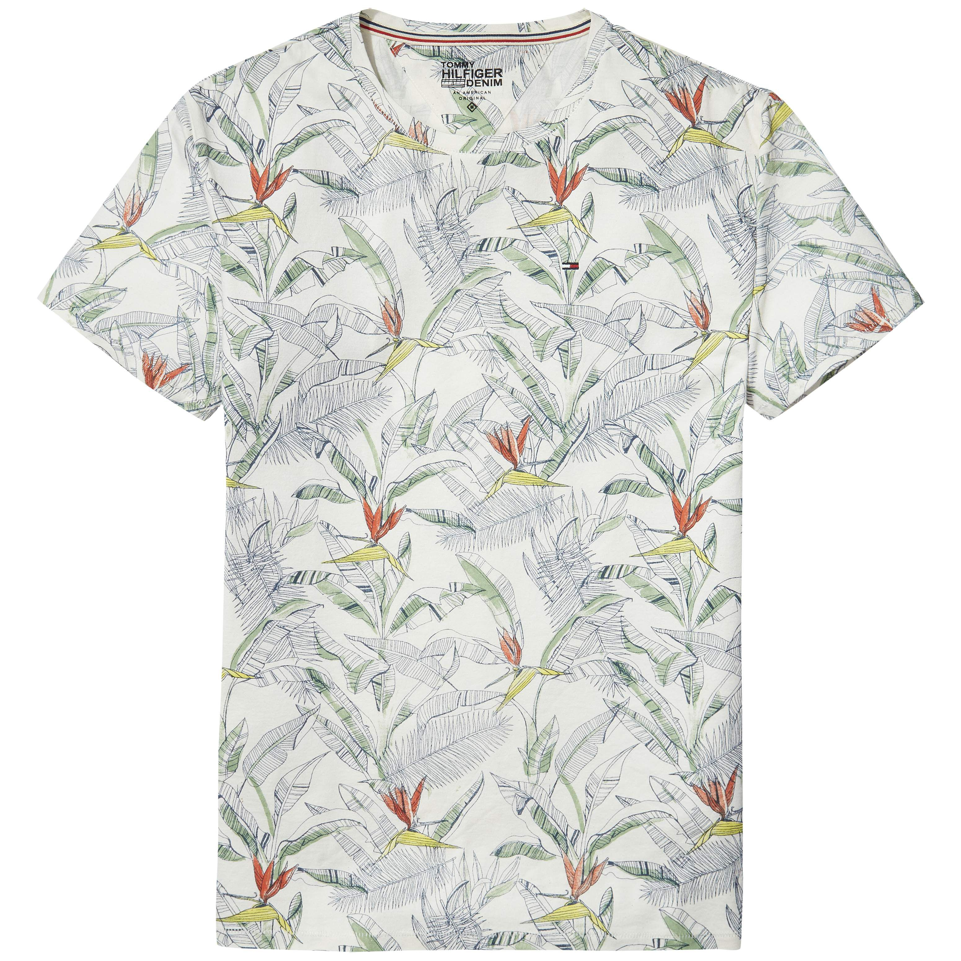 Men's Tommy Hilfiger Hilfiger Denim Floral Print T-Shirt, White