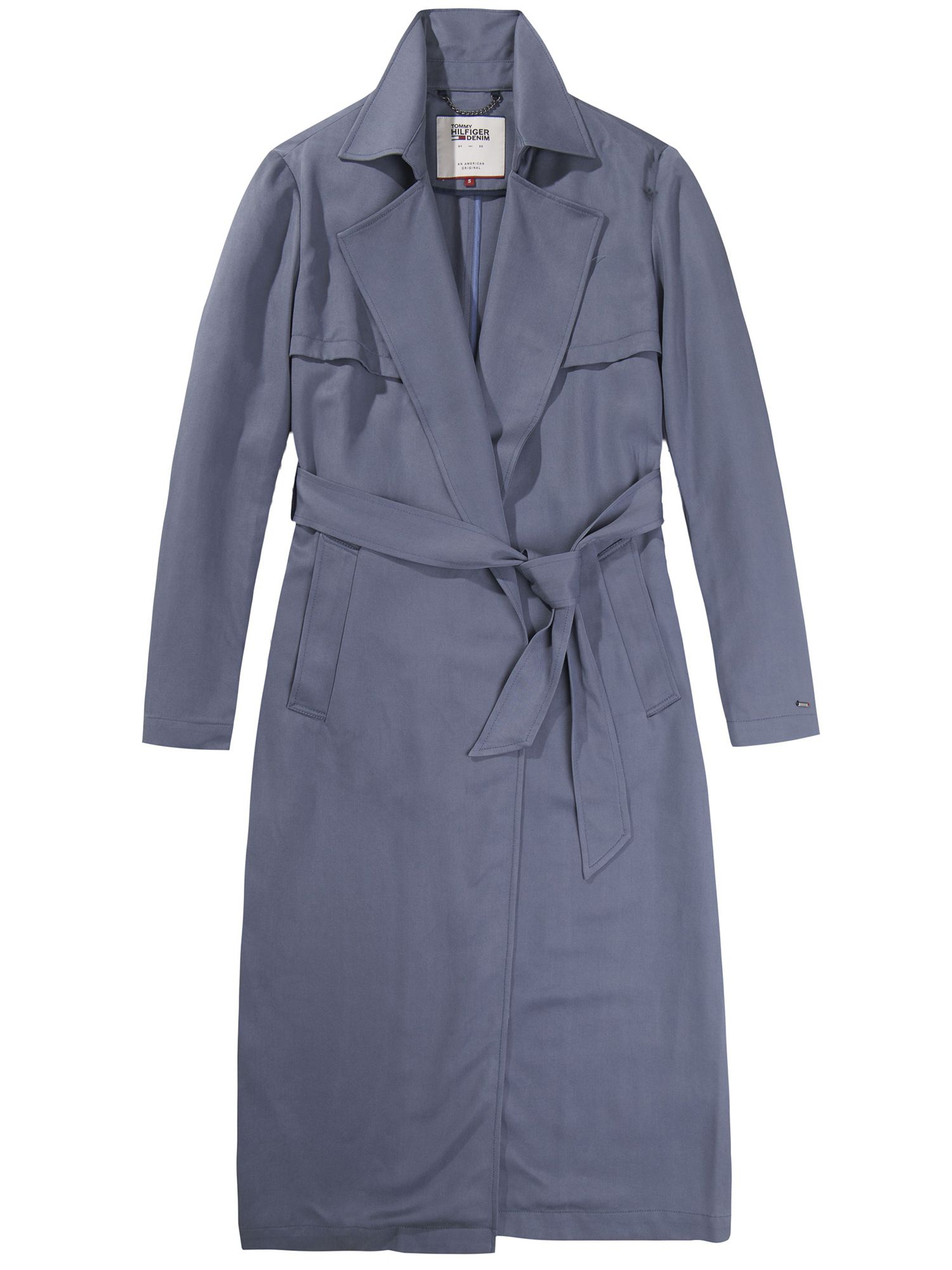 Tommy Hilfiger Fluid Trench Coat, Grey