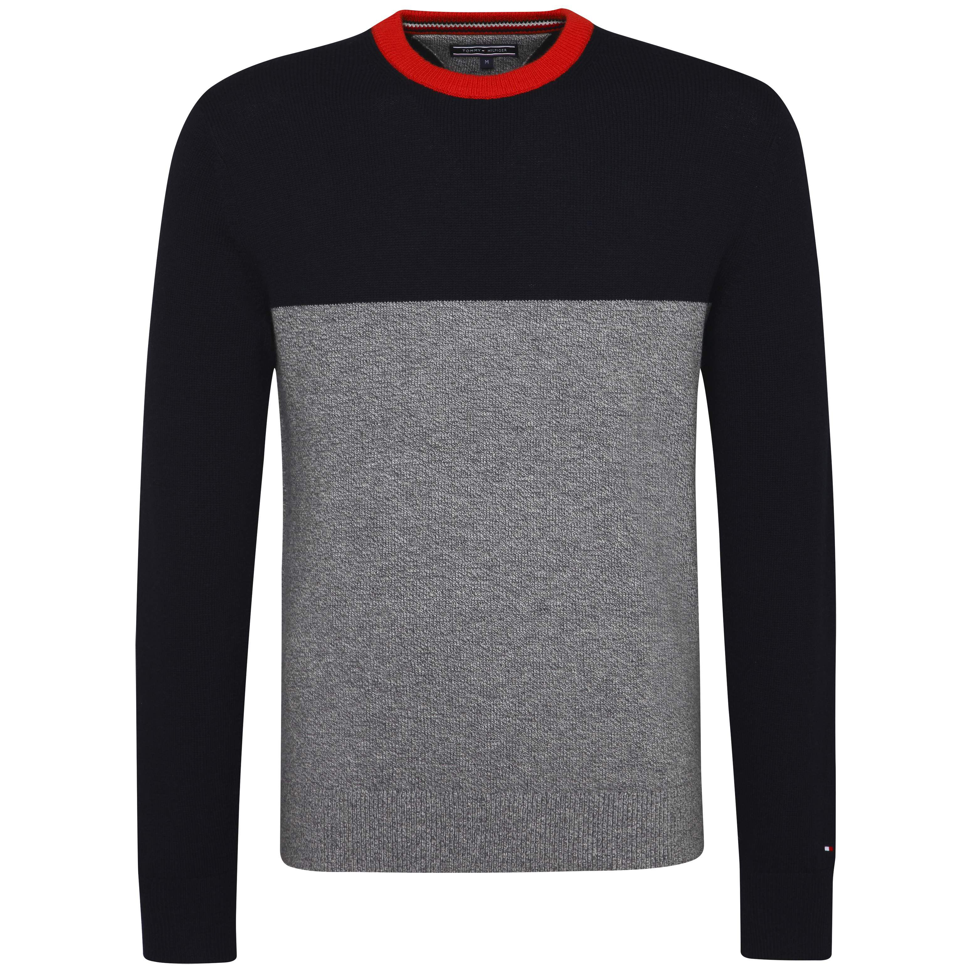 Men's Tommy Hilfiger Mouline Colourblock Sweater, Black