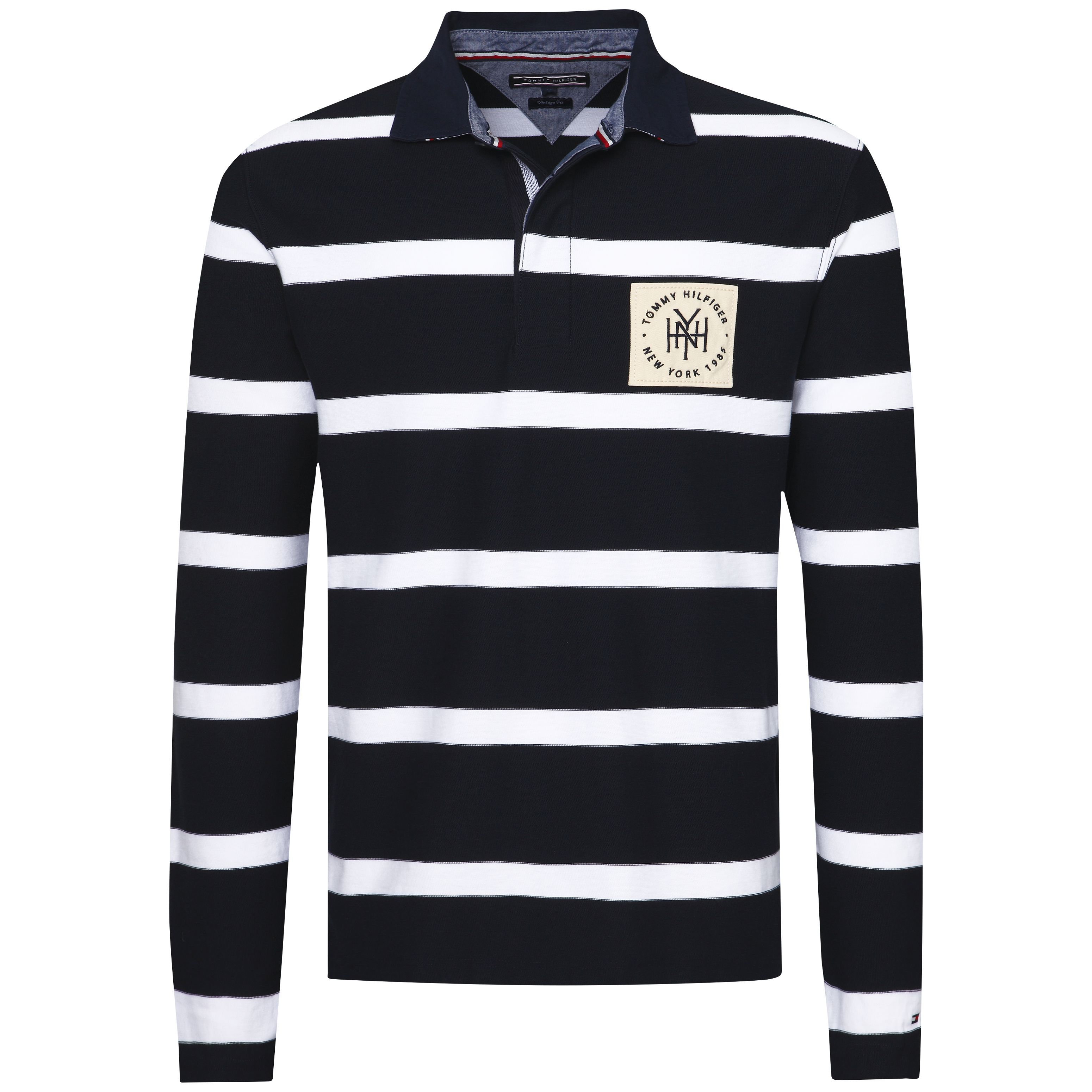 Men's Tommy Hilfiger Tobert Stripe Rugby Top, Blue